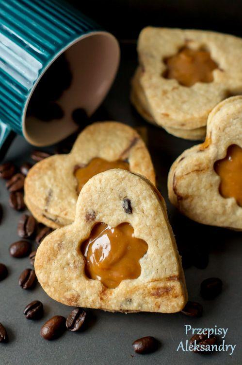 Coffee cookies with dulce de leche / Ciasteczka kawowe z kajmakiem
