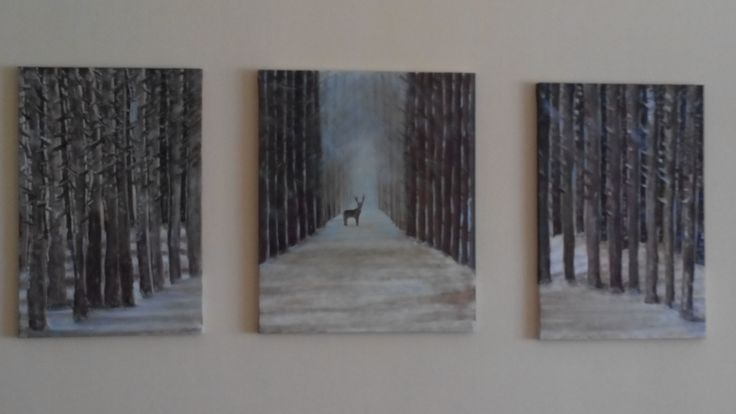 this is my latest painting, which occupies the left wall of the living room. Quite nice, don't you think?