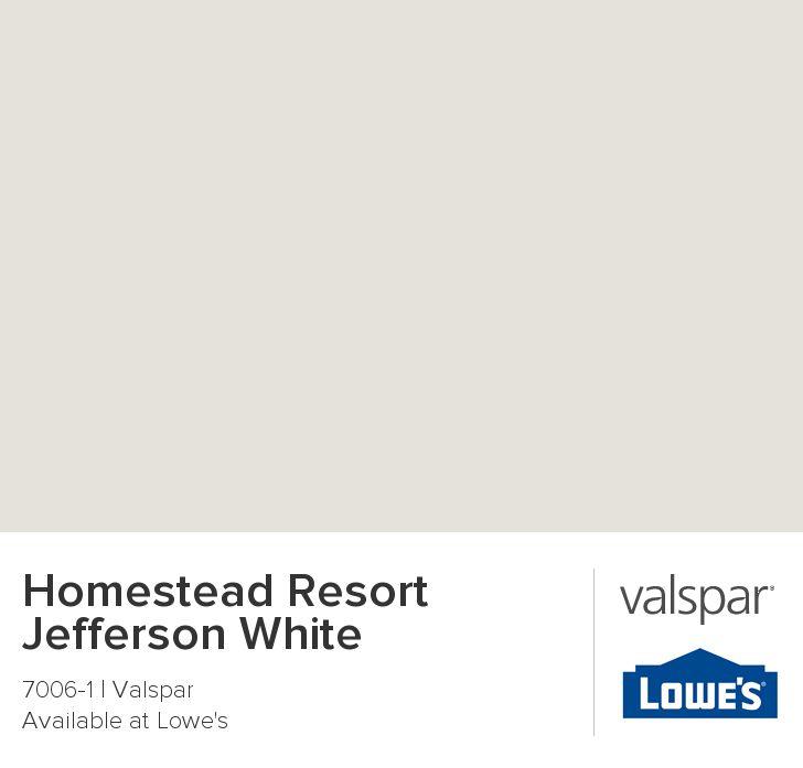 Homestead Resort Jefferson White from Valspar