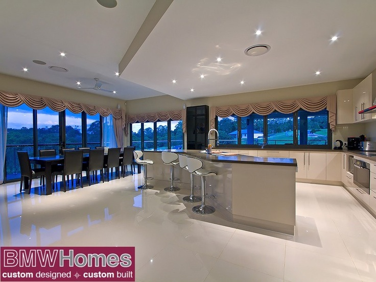 Providing a dropped ceiling can also define an area rather than using walls...