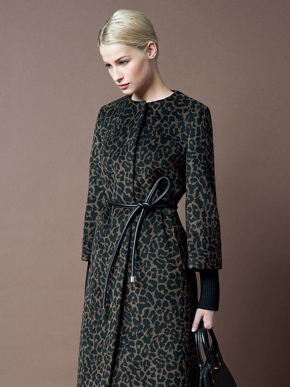 Пальто женское цвет мультиколор, пальтовая ткань, артикул 1015020p00490