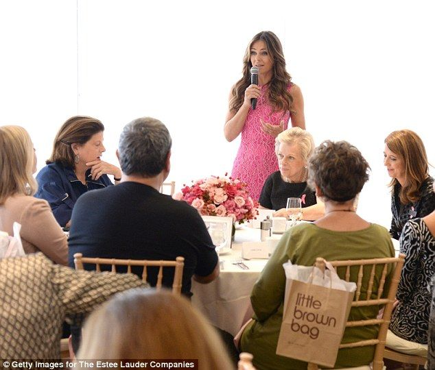 Raising awareness: The model hosted a fundraising luncheon and spoke about the fight again...