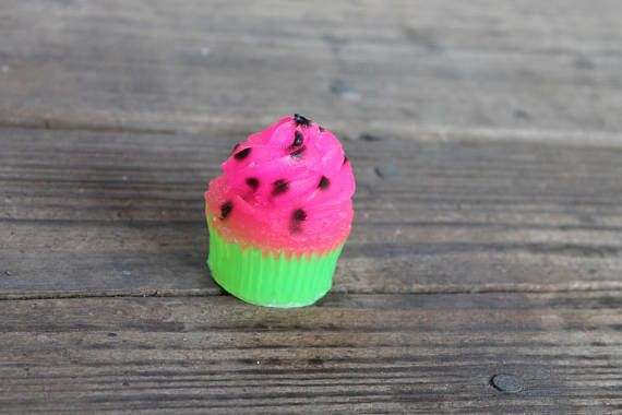 Watermelon Cupcake Soap Watermelon Birthday Party Favors