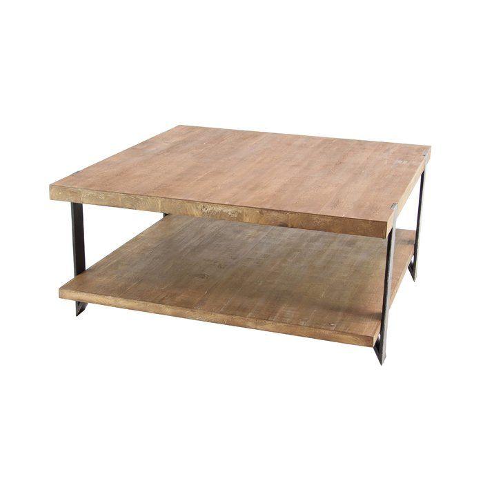 Stephene Coffee Table Coffee Table Square Coffee Table With Shelf Coffee Table