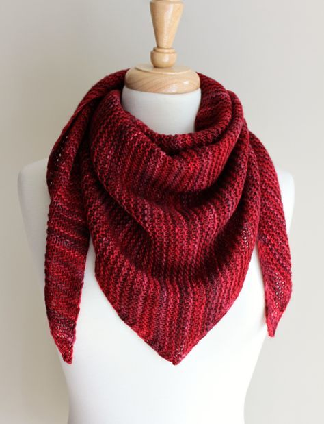 The sideways shawl, or scarf is a popular knitting pattern. It starts with only a handful of cast-onstitches, increases to the middle, and decreases back down to the same number of stitches that w...