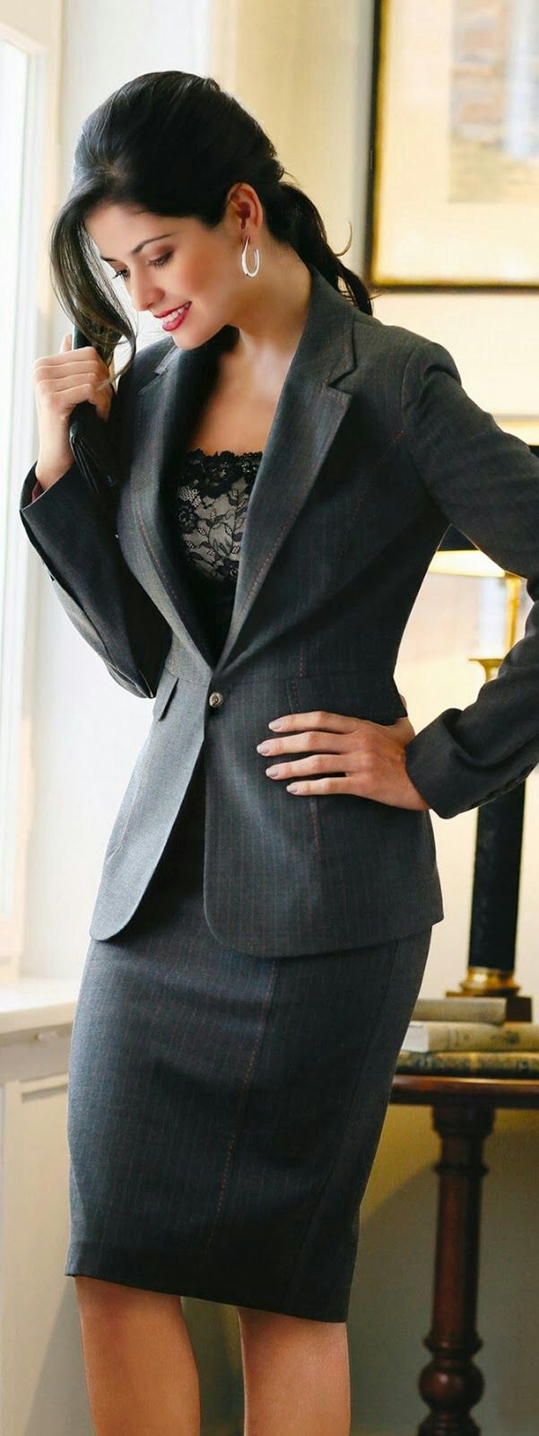 Back to business suits !!!   women fashion outfit clothing style apparel @roressclothes closet ideas