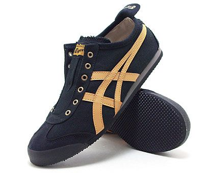Onitsuka Tiger Onitsuka Tiger sneakers Mexico 66 slip-on men's women's th3k 0n-9031 (black + honey mustard) (66SLIP-ON MEXICO) (130605)