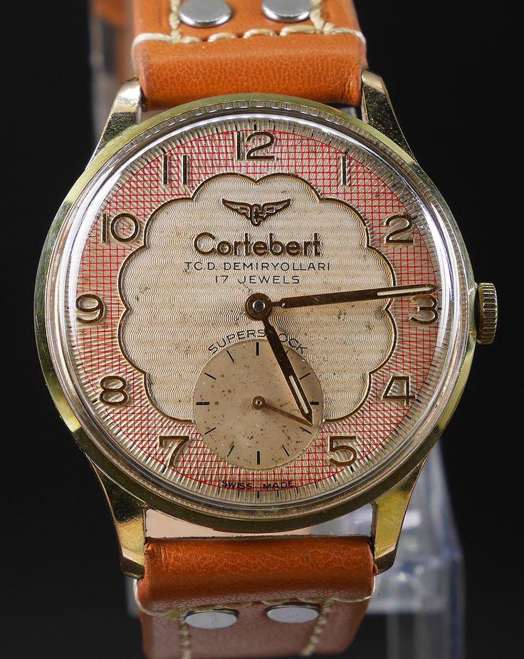 Cortebert T.C.D. Demiryolu Railway  watch