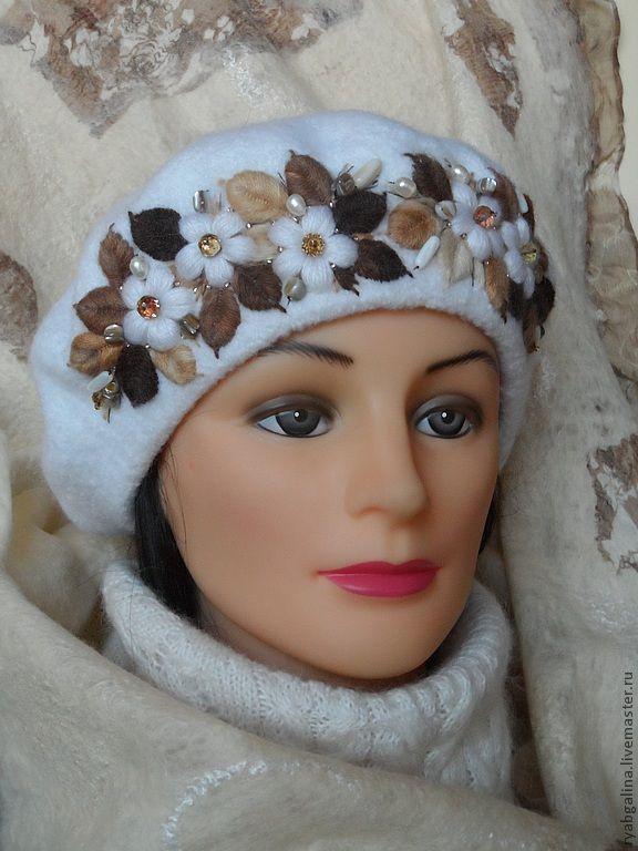 """Купить Берет """"Оленька"""" - берет из шерсти, подарок девушке, подарок женщине, подарок на новый год"""