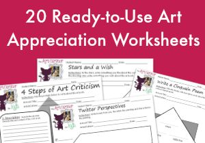 Art Appreciation Printable Worksheet Bundle - 20 Pack - The Art ...