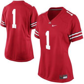 No. 1 Ohio State Buckeyes Nike Women's Game Jersey - Scarlet