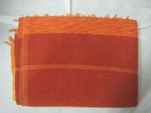 sensacional marroquíes se alzaba la mano sabra de cactus de seda y de chenilla manta del tiro en color naranja y colores vermilion 280 cm x 180 cm