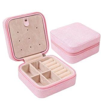 ขอแนะนำ  หนัง puมีซิปเล็กเก็บกล่องเครื่องเพชรพลอยท่องเที่ยวเก็บเคสออแกไนเซอร์แสดงผลสำหรับสร้อยคอต่างหูแหวนสีชมพู  ราคาเพียง  374 บาท  เท่านั้น คุณสมบัติ มีดังนี้ Small PU Leather Travel Zipper Jewelry Storage Box OrganizerDisplay Storage Case for Rings Earrings Necklace Pink Simple and compact design with elegant outlook and could beused to storage collectives. Earrings, rings, brackets, necklaces can be held. Also can put lipstick, nail clippers and other small makeuptools. Designed with…