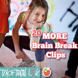 Here is an easy-to-access collection of 20 fun, energizing brain break videos for the classroom!  Each of these were put through a special student-friendly filter as well.