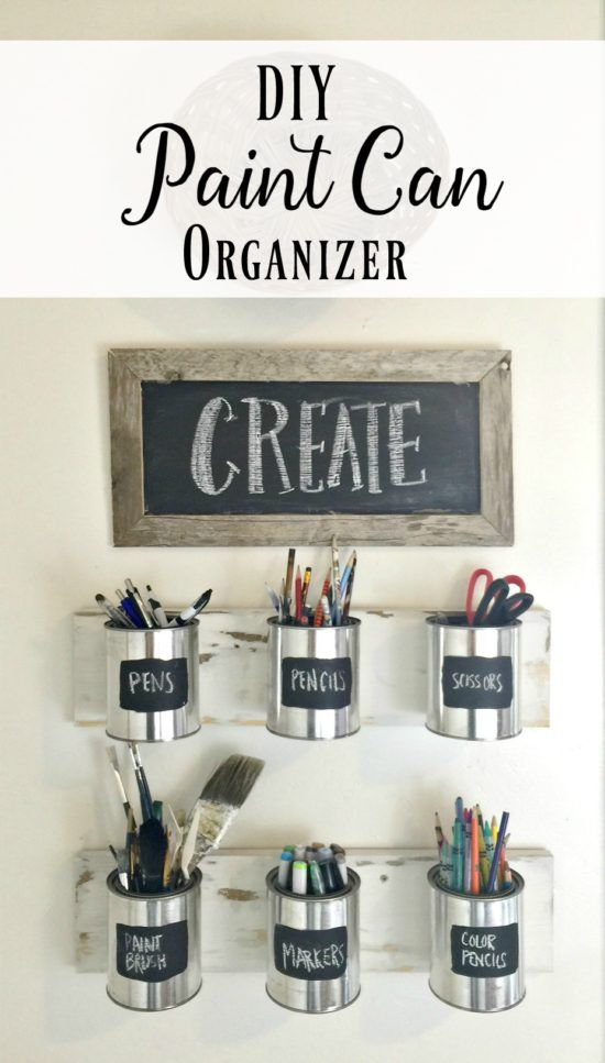 DIY Paint Can Organizer - such an awesome and easy DIY!