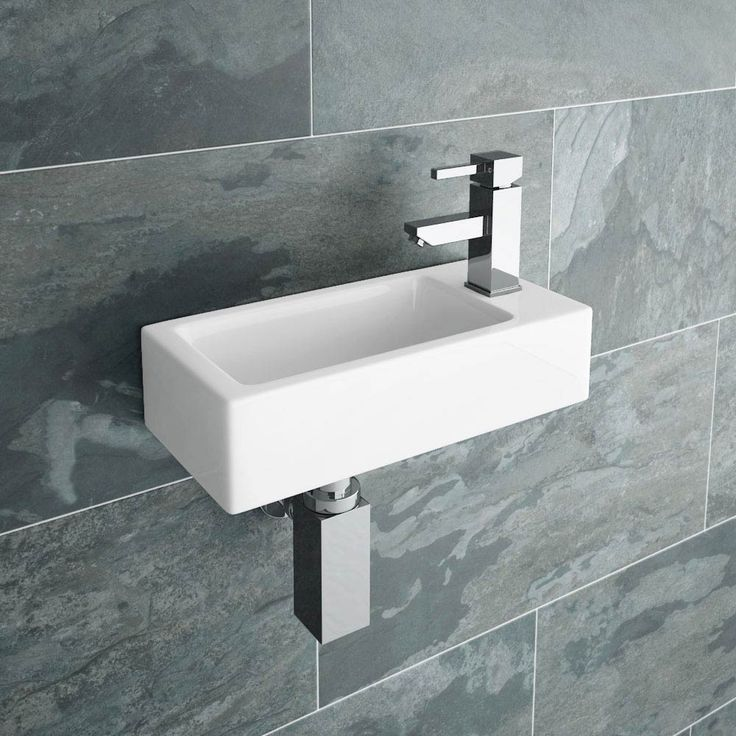 Rondo Wall Hung Small Cloakroom Basin R/H 1TH - 365 x 180mm Large Image