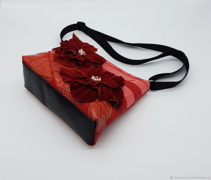Сумочки кожаные через плечо (четыре сумочки) – купить в интернет-магазине на Ярмарке Мастеров с доставкой - FB9R7RU