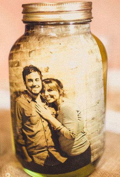 Click Pic for 40 DIY Valentine Gift Ideas for Boyfriend & Husbands - Picture in a Mason Jar ...