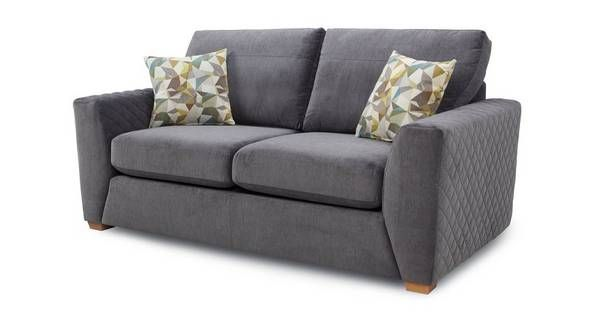 £1049. (Sale £660) Astaire 2 Seater Sofa  graphite.   DFS