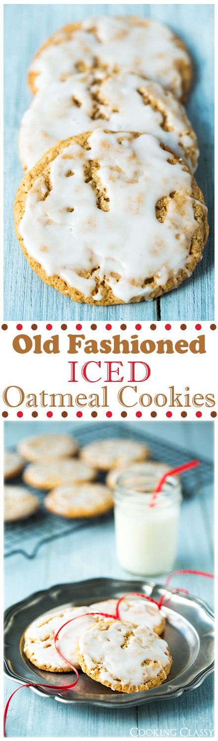 Old Fashioned Iced Oatmeal Cookies - these cookies are unbelievably good!! Just like the kind grandma made!