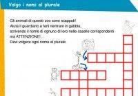 Esercizi italiano per la terza elementare