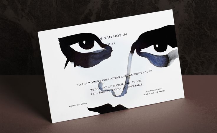 Dries Van Noten: London-based illustrator Gill Button hand-painted no less than 1,200 invitations for Dries Van Noten's A/W womenswear show after being discovered by the Belgian designer on Instagram. The collection – and invitations – nod to Italian heiress and muse Luisa Casati Read more at http://www.wallpaper.com/fashion/the-finest-fashion-week-invitations-from-the-aw-2016-season#IzEQVHb15SSdoddT.99