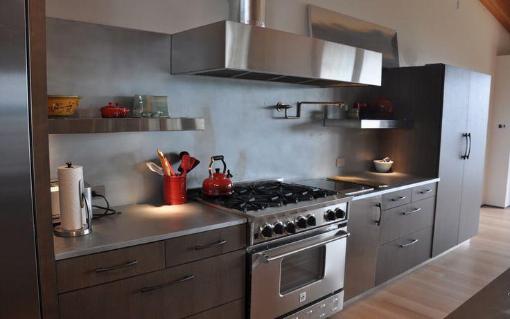 16 best waterfall countertops images on pinterest for Zinc kitchen countertop