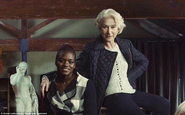 With a bang: the grande dame of drama Helen Mirren is an inspiration to many, as is Olympic gold medallist, Nicole Adams, who punched her way into British hearts when she became a boxing champ at London 2012 - Annie leibovitz for Marks & Spencers