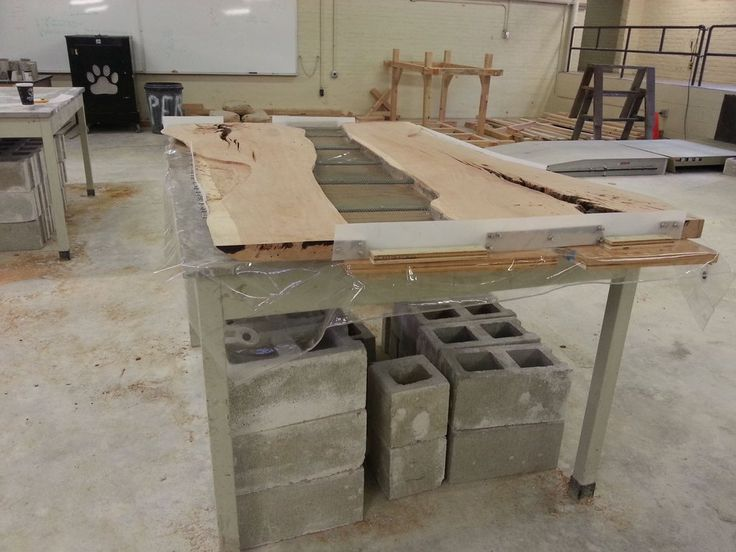 cherry and concrete dining table | Concrete and Driftwood ...