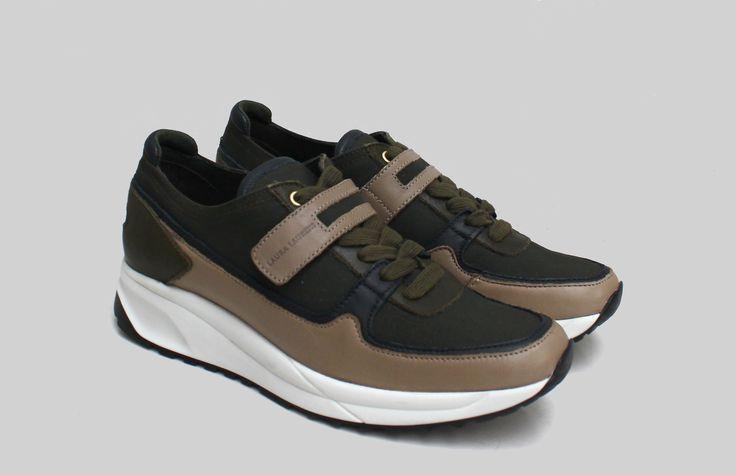 Laura Laurens sneakers / Military green / Ripstop