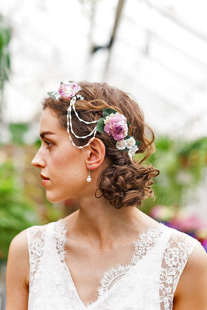 18 Gorgeous Blooming Wedding Hair Bouquets ❤ See more: http://www.weddingforward.com/blooming-wedding-hair-bouquets/ #weddings #hairstyles