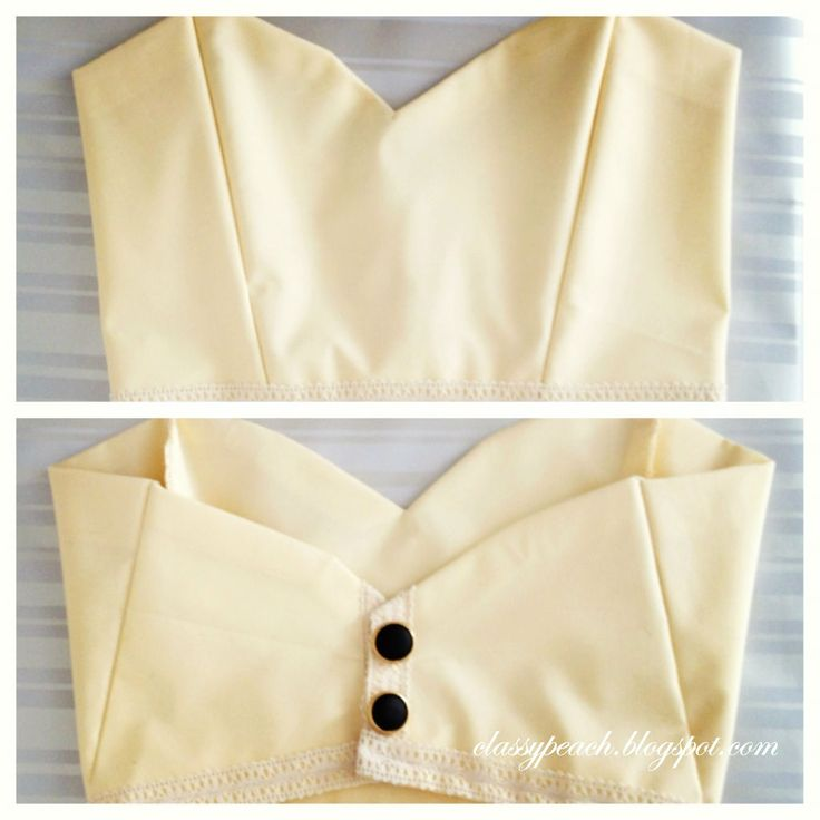Lovely Tutorial: Cropped Bustier Top ~ Classy Peach