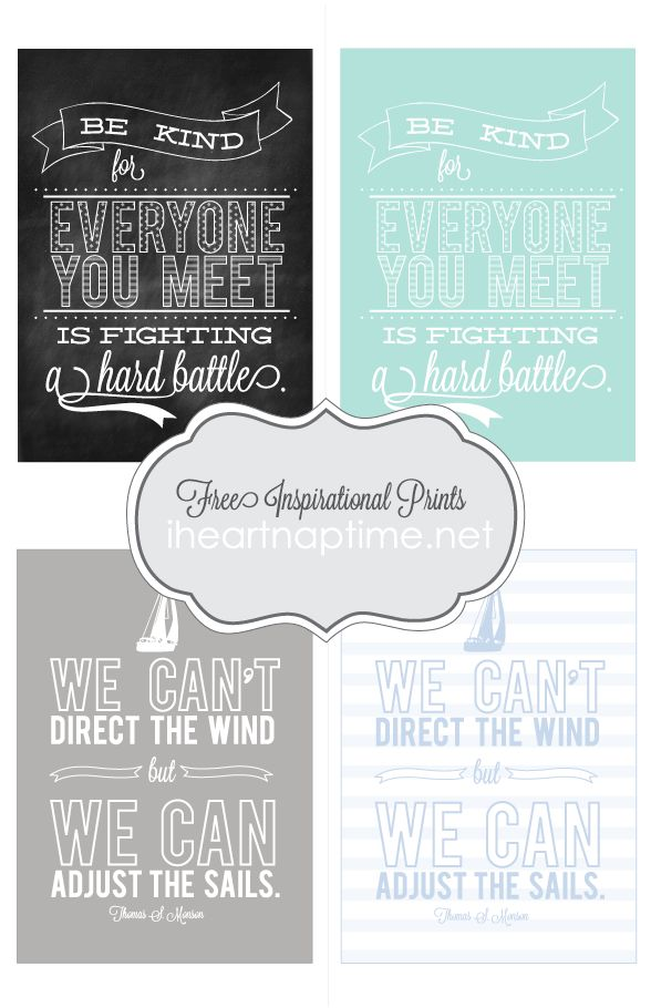free inspirational prints at i heart naptime
