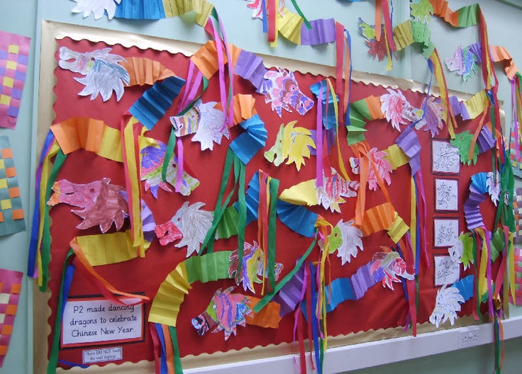 Chinese New Year classroom display photo from Fiona.