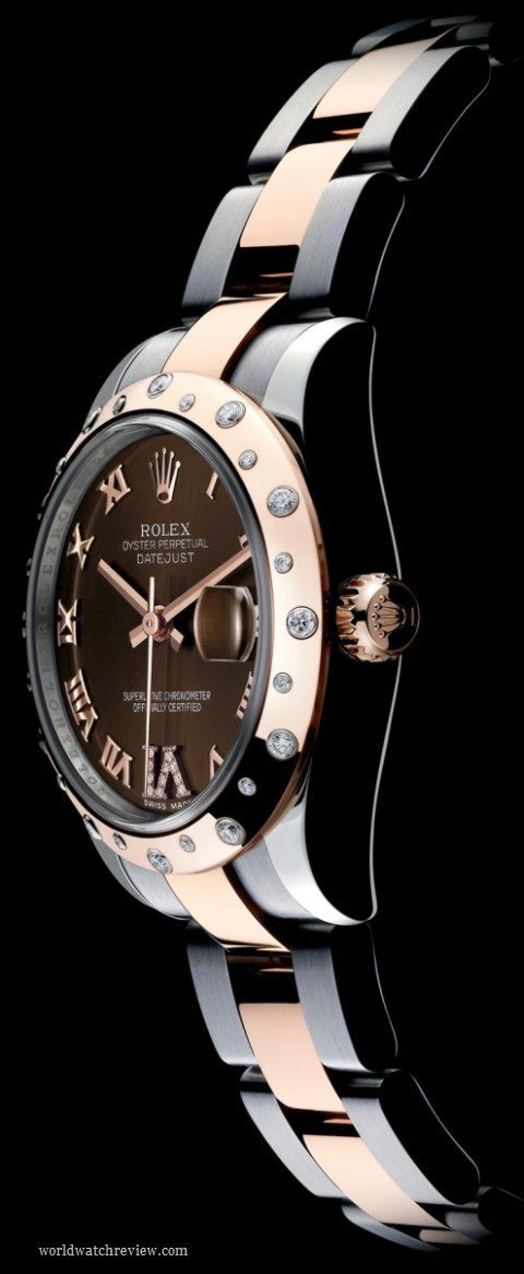 Rolex Oyster Perpetual Datejust Lady 31mm in Steel and Everose Gold with Chocolate Dial (Ref m178341) $12,000