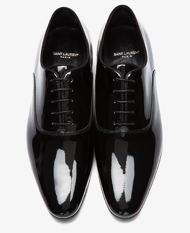 Shoes of the Day: Saint Laurent Richelieu Black Patent Leather Oxford Shoes | UpscaleHype