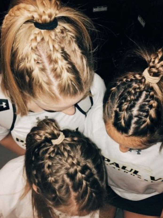 Pin By May Eger On S T Y L E Game Day Hair Sports Hairstyles Volleyball Hairstyles
