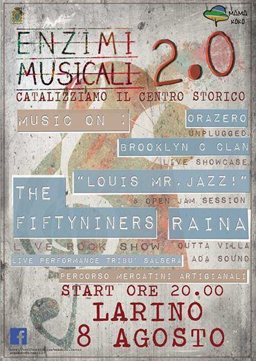 Enzimi musicali 2.0 - Catalizziamo il centro storico - Larino (Campobasso) 8 Agosto 2014