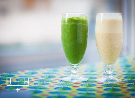 Baobab 'green eggs' and 'egg nog' smoothies #TheArtofEatingWell