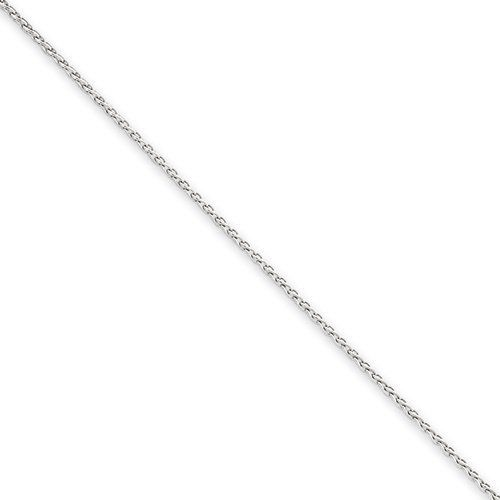 6 Inch 14K White Gold 1.2mm Round D/C Wheat Chain Gold Collection. $86.38. Save 36% Off!