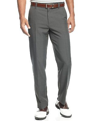IZOD Straight Fit Plaid Performance Golf Pants Asphalt Gray 34W x 30L $65