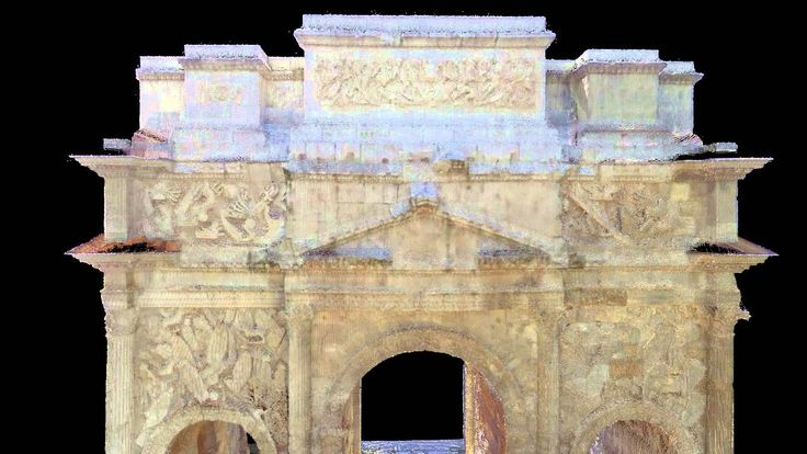 Researchers with the University of South Florida Alliance for Integrated Spatial Technologies, collaborating with USF History Professor William Murray, utilized terrestrial laser scanning (TLS) survey and imaging techniques to document the Triumphal Arch of Orange- a World Heritage site in southeast France.