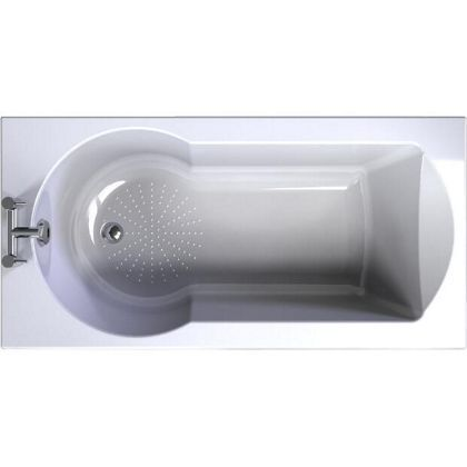 buttermere 1500 straight shower bath at homebase be baths shower baths amp corner baths diy at b amp q