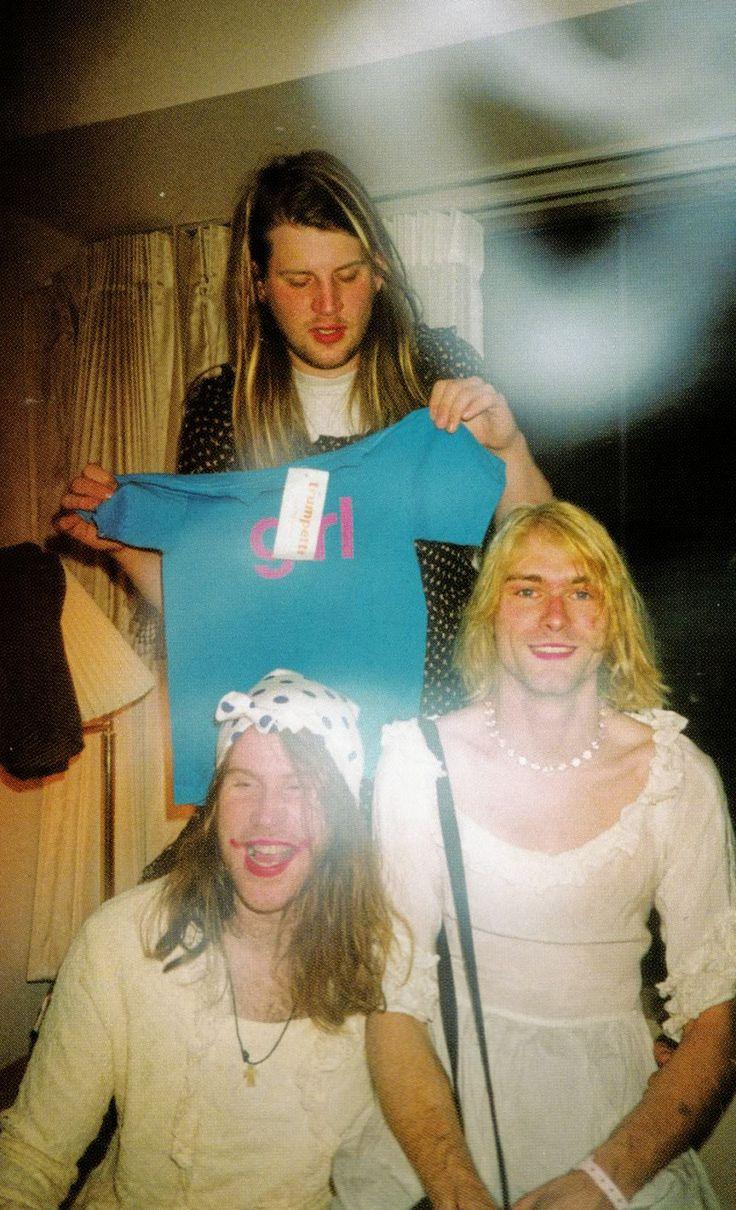 Kurt Cobain, Dylan Carlson & Mark Lanegan, 1992, photo by Courtney Love