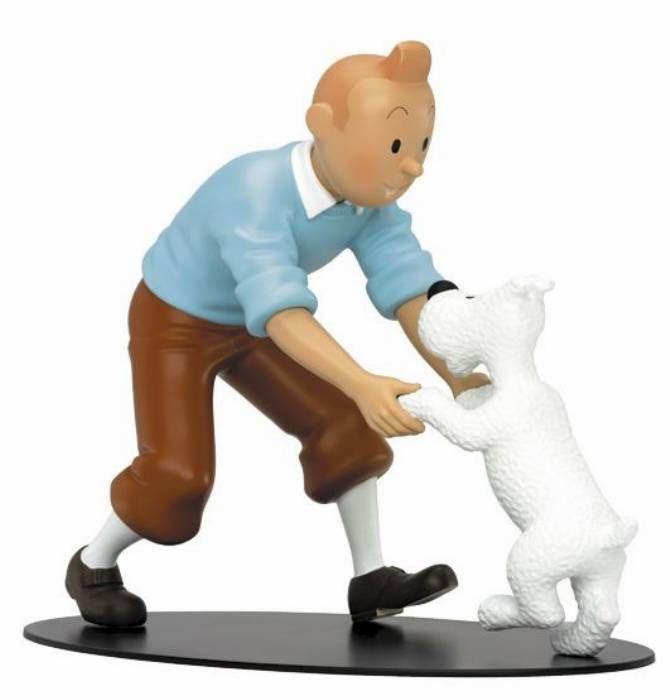 Figurine Tintin - La Joie De Tintin Et Milou