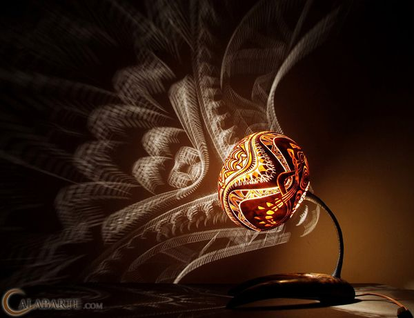 Exotic Gourd Lamps By Calabarte Images