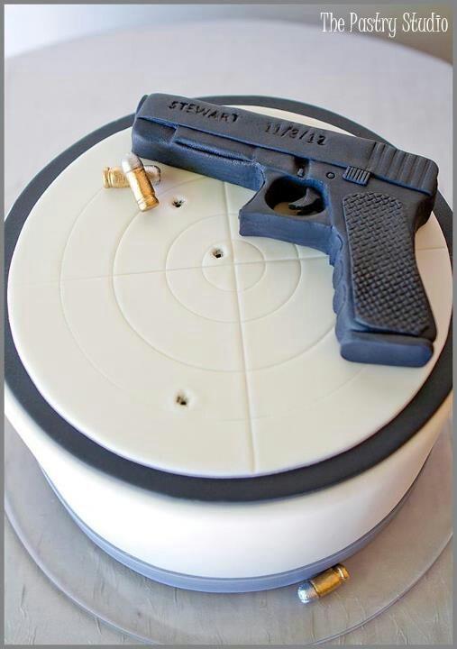 Gun and Target Cake!