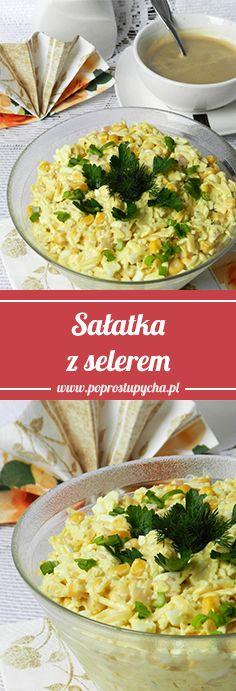 Sałatka z selerem, kukurydzą, jajkami, szynką, żółtym serem oraz natką pietruszki. :) #poprostupycha #przepis #salatka #seler #jajka #szynka #ser #wielkanoc #świeta #przepisyświateczne #pycha #jedzenie