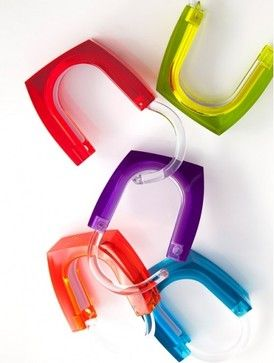Neon And Squared Curtain Rings