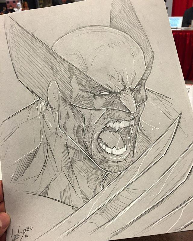 Wolverine Sketch by Vince Sunico at Montreal Comic Con #wolverine #xmen #xforce #montrealcomiccon2016